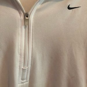 White quarter zip Nike pull over